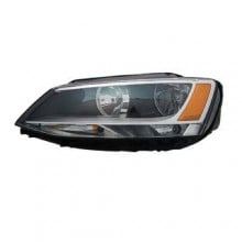 2011 -  2016 Volkswagen Jetta Front Headlight Assembly Replacement Housing / Lens / Cover - Left <u><i>Driver</i></u> Side - (Sedan)