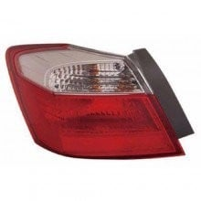 2013 -  2015 Honda Accord Rear Tail Light Assembly Replacement / Lens / Cover - Left <u><i>Driver</i></u> Side Outer - (EX + EX-L + Hybrid EX-L + LX + LX-S + Sport)