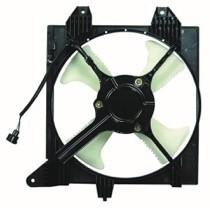 2002 - 2007 Mitsubishi Lancer Condenser Cooling Fan Assembly