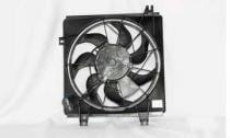 1998 - 2001 Kia Sephia Condenser Cooling Fan Assembly