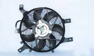 1998-2000 Nissan Frontier Condenser Cooling Fan Assembly