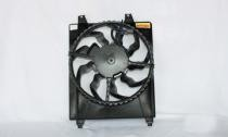 2007 - 2009 Hyundai Santa Fe Radiator Cooling Fan Assembly (Right Side)