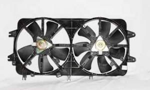 2000-2002 Mazda 626 Radiator Cooling Fan Assembly (2.0L / Dual Fan Assembly)