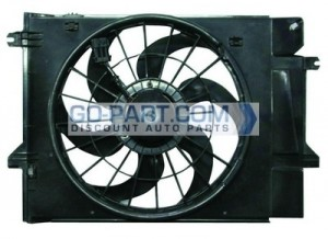 1999-2002 Nissan Quest Van Radiator Cooling Fan Assembly