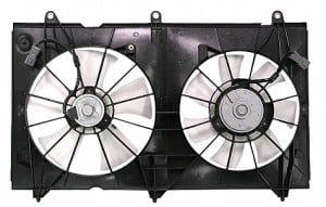 2003-2007 Honda Accord Radiator Cooling Fan Assembly (4 Cylinder / Coupe / Sedan / Denso)