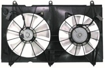 2003 - 2007 Honda Accord Radiator Cooling Fan Assembly (4 Cylinder / Coupe / Sedan / Denso)