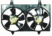 2002 - 2003 Nissan Maxima Radiator Cooling Fan Assembly