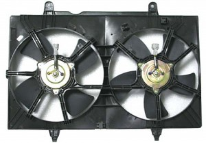 2004-2009 Nissan Quest Van Radiator Cooling Fan Assembly