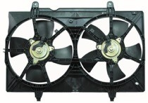 2004 - 2009 Nissan Quest Van Radiator Cooling Fan Assembly