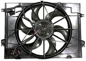2005-2009 Hyundai Tucson Radiator Cooling Fan Assembly (2.0L)