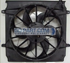 2005-2007 Jeep Liberty Radiator Cooling Fan Assembly (With 2.4L Engine)