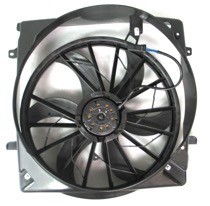 2005 - 2007 Jeep Liberty Radiator Cooling Fan Assembly (With 3.7L Engine)