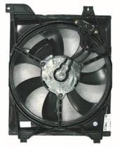 2006 - 2009 Kia Rio Condenser Cooling Fan Assembly