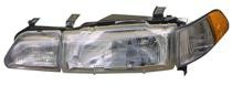 1990 - 1993 Acura Integra Headlight Assembly (Includes Marker & Fog Lamp) - Right (Passenger)
