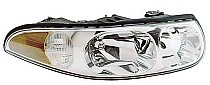 2000 Buick LeSabre Headlight Assembly (with Marker Lamps + Custom + with Smooth High Beam Surface) - Right (Passenger)