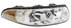 2000-2000 Buick LeSabre Headlight Assembly (with Marker Lamps / Custom / with Smooth High Beam Surface) - Right (Passenger)