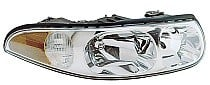 2000 Buick LeSabre Headlight Assembly (with Corner & Marker Lamp + Limited + with Smooth High Beam Surface) - Right (Passenger)
