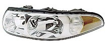 2000 Buick LeSabre Headlight Assembly (with Marker Lamp / Custom / with Smooth High Beam Surface) - Left (Driver)