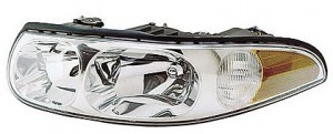 2000-2000 Buick LeSabre Headlight Assembly (with Marker Lamp / Custom / with Smooth High Beam Surface) - Left (Driver)