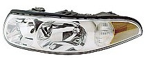 2000 - 2005 Buick LeSabre Headlight Assembly (with Corner & Marker Lamp + Custom + with Fluted High Beam Surface) - Left (Driver)