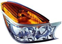 2002 - 2003 Buick Rendezvous Front Headlight Assembly Replacement Housing / Lens / Cover - Right (Passenger)