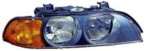 1997 - 1998 BMW 528i Front Headlight Assembly Replacement Housing / Lens / Cover - Right (Passenger)