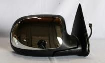 1999 - 2002 Chevrolet Chevy Silverado Side View Mirror (Standard Style + Power Remote + Heated + Chrome) - Right (Passenger)