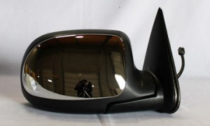 1999-2000 GMC Sierra Side View Mirror (Standard Style / Power Remote / Heated / Bright) - Right (Passenger)