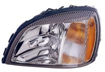 2004 - 2005 Cadillac Concours Front Headlight Assembly Replacement Housing / Lens / Cover - Left (Driver)