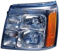 2002 Cadillac Escalade Front Headlight Assembly Replacement Housing / Lens / Cover - Left (Driver)