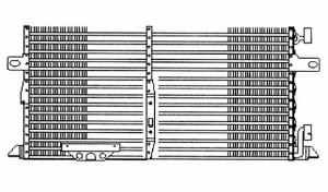 1996-2000 Chrysler Town & Country A/C (AC) Condenser (3.3L / 3.8L) [with Aux TOC / with Aux Cond]