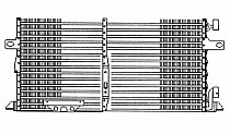 1996 - 2000 Chrysler Town & Country A/C (AC) Condenser (3.3L + 3.8L) [with Aux TOC + with Aux Cond]