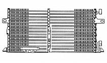 1996 - 2000 Dodge Caravan + Grand Caravan A/C (AC) Condenser (2.4L + 3.0L + 3.3L + 3.8L) [with Aux TOC + with Aux Cond]