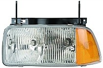 1995 - 1997 GMC S15 Jimmy Front Headlight Assembly Replacement Housing / Lens / Cover - Left (Driver)