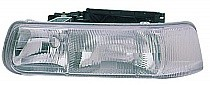 1999 - 2002 Chevrolet (Chevy) Silverado Front Headlight Assembly Replacement Housing / Lens / Cover - Left (Driver)