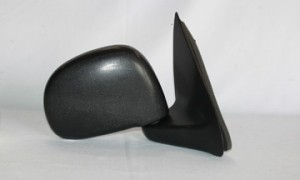 1997-2002 Ford F-Series Heritage Pickup Side View Mirror (Manual / Rectangular Style / Black / to 2/11/02) - Right (Passenger)