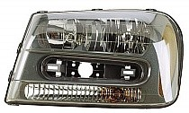 2002 - 2009 Chevrolet (Chevy) Trailblazer Front Headlight Assembly Replacement Housing / Lens / Cover - Left (Driver)