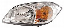 2005 - 2010 Chevrolet Chevy Cobalt Headlight Assembly (Base Model LS/LT; w/ Yellow Turn Signal) - Left (Driver)