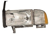 1994 - 2002 Dodge Ram Headlight Assembly (without Sport Package / Includes Park/Signal/Marker Lamps) - Left (Driver)