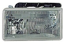 1991 - 1996 Dodge Dakota Headlight Assembly (with Aero Package) - Left (Driver)