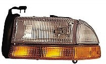 1997 - 2003 Dodge Durango Front Headlight Assembly Replacement Housing / Lens / Cover - Left (Driver)
