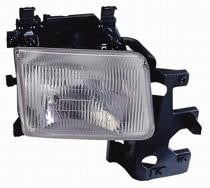 1994 - 1997 Dodge Van Front Headlight Assembly Replacement Housing / Lens / Cover - Left (Driver)