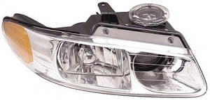 2000-2000 Chrysler Town & Country Headlight Assembly (with Quad Headlamps) - Right (Passenger)