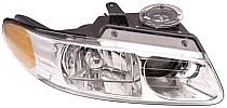 2000 Dodge Caravan Headlight Assembly (with Quad Headlamps) - Right (Passenger) Replacement