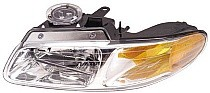2000 Chrysler Town & Country Headlight Assembly (without Quad Headlamps + without Daytime Running Lights) - Left (Driver)