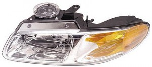 2000-2000 Chrysler Town & Country Headlight Assembly (without Quad Headlamps / without Daytime Running Lights) - Left (Driver)