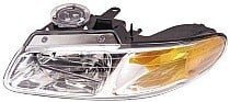 2000 Plymouth Voyager Headlight Assembly (without Quad Headlamps + without Daytime Running Lights) - Left (Driver)