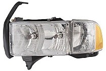 1999 - 2002 Dodge Ram Front Headlight Assembly Replacement Housing / Lens / Cover - Left (Driver)