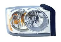 2006 - 2007 Dodge Dakota Headlight Assembly (Without Black Bezel) - Right (Passenger)
