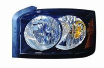 2006 - 2007 Dodge Dakota Headlight Assembly (With Black Bezel) - Left (Driver)